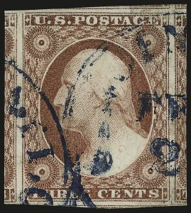 Sale Number 946, Lot Number 210, 1851-56 Issue (Scott 5-17)3c Dull Red, Ty. II (11A), 3c Dull Red, Ty. II (11A)