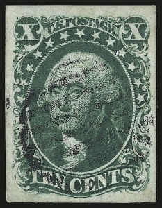 Sale Number 946, Lot Number 225, 1851-56 Issue (Scott 5-17)10c Green, Ty. IV (16), 10c Green, Ty. IV (16)