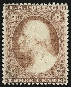 Sale Number 946, Lot Number 257, 1857-60 Issue (Scott 18-39)3c Dull Red, Ty. III (26), 3c Dull Red, Ty. III (26)