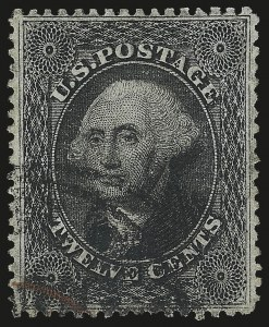 Sale Number 946, Lot Number 293, 1857-60 Issue (Scott 18-39)12c Black, Plate 3 (36b), 12c Black, Plate 3 (36b)