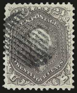 Sale Number 946, Lot Number 355, 1861-66 Issue (Scott 56-78)24c Brown Lilac (70a), 24c Brown Lilac (70a)