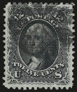 Sale Number 946, Lot Number 399, 1867-68 Grilled Issue (Scott 79-101)12c Black, E. Grill (90), 12c Black, E. Grill (90)