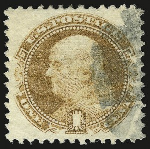 Sale Number 946, Lot Number 454, 1869 Pictorial Issue (Scott 112-122)1c Buff (112), 1c Buff (112)