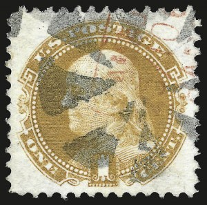 Sale Number 946, Lot Number 455, 1869 Pictorial Issue (Scott 112-122)1c Buff (112), 1c Buff (112)