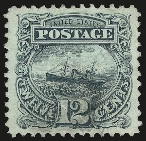 Sale Number 946, Lot Number 475, 1869 Pictorial Issue (Scott 112-122)12c Green (117), 12c Green (117)