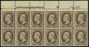Sale Number 946, Lot Number 603, 1881-83 American Bank Note Co. Issues (Scott 205-211B)10c Brown (209), 10c Brown (209)