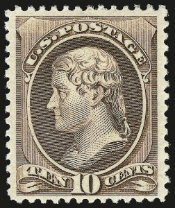 Sale Number 946, Lot Number 605, 1881-83 American Bank Note Co. Issues (Scott 205-211B)10c Brown (209), 10c Brown (209)