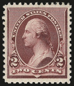 Sale Number 946, Lot Number 614, 1890-93 Issue (Scott 219-229)2c Lake (219D), 2c Lake (219D)