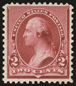 "Sale Number 946, Lot Number 616, 1890-93 Issue (Scott 219-229)2c Carmine, Cap on Both ""2""'s (220c), 2c Carmine, Cap on Both ""2""'s (220c)"