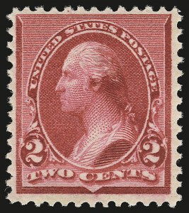 "Sale Number 946, Lot Number 618, 1890-93 Issue (Scott 219-229)2c Carmine, Cap on Both ""2""'s (220c), 2c Carmine, Cap on Both ""2""'s (220c)"