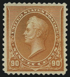 Sale Number 946, Lot Number 628, 1890-93 Issue (Scott 219-229)90c Orange (229), 90c Orange (229)