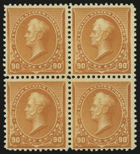 Sale Number 946, Lot Number 631, 1890-93 Issue (Scott 219-229)90c Orange (229), 90c Orange (229)