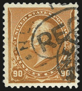 Sale Number 946, Lot Number 633, 1890-93 Issue (Scott 219-229)90c Orange (229), 90c Orange (229)