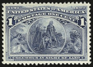 Sale Number 946, Lot Number 635, 1893 Columbian Issue (Scott 230-245)1c Columbian (230), 1c Columbian (230)