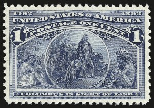Sale Number 946, Lot Number 639, 1893 Columbian Issue (Scott 230-245)1c Columbian (230), 1c Columbian (230)