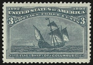 Sale Number 946, Lot Number 643, 1893 Columbian Issue (Scott 230-245)3c Columbian (232), 3c Columbian (232)