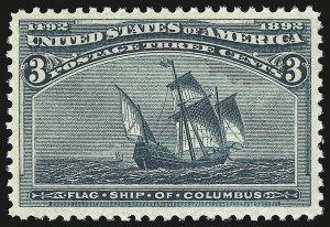 Sale Number 946, Lot Number 646, 1893 Columbian Issue (Scott 230-245)3c Columbian (232), 3c Columbian (232)