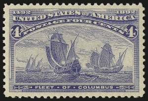 Sale Number 946, Lot Number 649, 1893 Columbian Issue (Scott 230-245)4c Columbian (233), 4c Columbian (233)