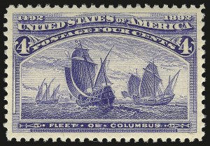 Sale Number 946, Lot Number 650, 1893 Columbian Issue (Scott 230-245)4c Columbian (233), 4c Columbian (233)