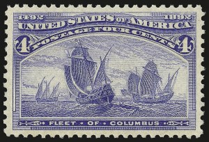 Sale Number 946, Lot Number 652, 1893 Columbian Issue (Scott 230-245)4c Columbian (233), 4c Columbian (233)