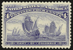 Sale Number 946, Lot Number 653, 1893 Columbian Issue (Scott 230-245)4c Columbian (233), 4c Columbian (233)