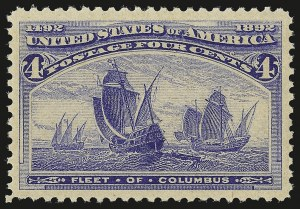 Sale Number 946, Lot Number 654, 1893 Columbian Issue (Scott 230-245)4c Columbian (233), 4c Columbian (233)