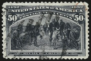 Sale Number 946, Lot Number 688, 1893 Columbian Issue (Scott 230-245)50c Columbian (240), 50c Columbian (240)