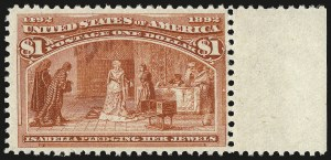 Sale Number 946, Lot Number 690, 1893 Columbian Issue (Scott 230-245)$1.00 Columbian (241), $1.00 Columbian (241)