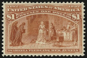 Sale Number 946, Lot Number 691, 1893 Columbian Issue (Scott 230-245)$1.00 Columbian (241), $1.00 Columbian (241)