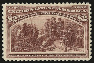 Sale Number 946, Lot Number 698, 1893 Columbian Issue (Scott 230-245)$2.00 Columbian (242), $2.00 Columbian (242)