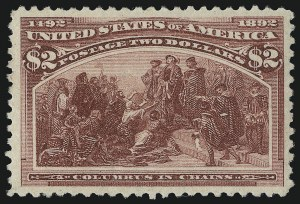 Sale Number 946, Lot Number 699, 1893 Columbian Issue (Scott 230-245)$2.00 Columbian (242), $2.00 Columbian (242)