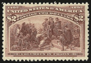 Sale Number 946, Lot Number 700, 1893 Columbian Issue (Scott 230-245)$2.00 Columbian (242), $2.00 Columbian (242)