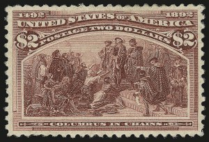 Sale Number 946, Lot Number 701, 1893 Columbian Issue (Scott 230-245)$2.00 Columbian (242), $2.00 Columbian (242)