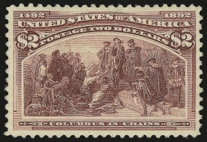 Sale Number 946, Lot Number 702, 1893 Columbian Issue (Scott 230-245)$2.00 Columbian (242), $2.00 Columbian (242)