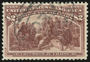 Sale Number 946, Lot Number 703, 1893 Columbian Issue (Scott 230-245)$2.00 Columbian (242), $2.00 Columbian (242)