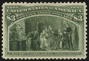 Sale Number 946, Lot Number 704, 1893 Columbian Issue (Scott 230-245)$3.00 Columbian (243), $3.00 Columbian (243)