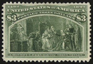 Sale Number 946, Lot Number 705, 1893 Columbian Issue (Scott 230-245)$3.00 Columbian (243), $3.00 Columbian (243)