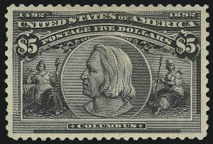 Sale Number 946, Lot Number 719, 1893 Columbian Issue (Scott 230-245)$5.00 Columbian (245), $5.00 Columbian (245)