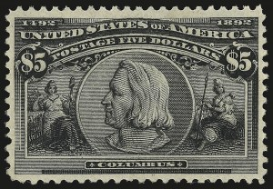 Sale Number 946, Lot Number 723, 1893 Columbian Issue (Scott 230-245)$5.00 Columbian (245), $5.00 Columbian (245)