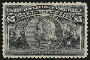 Sale Number 946, Lot Number 725, 1893 Columbian Issue (Scott 230-245)$5.00 Columbian (245), $5.00 Columbian (245)