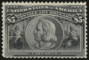 Sale Number 946, Lot Number 726, 1893 Columbian Issue (Scott 230-245)$5.00 Columbian (245), $5.00 Columbian (245)