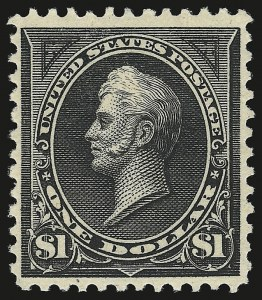 Sale Number 946, Lot Number 740, 1894 Unwatermarked Bureau Issue (Scott 246-263)$1.00 Black, Ty. II (261A), $1.00 Black, Ty. II (261A)