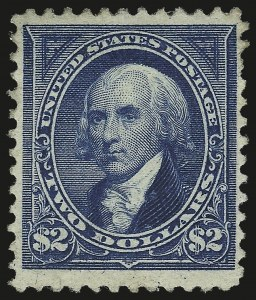 Sale Number 946, Lot Number 745, 1894 Unwatermarked Bureau Issue (Scott 246-263)$2.00 Bright Blue (262), $2.00 Bright Blue (262)