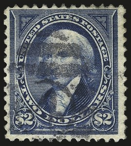 Sale Number 946, Lot Number 746, 1894 Unwatermarked Bureau Issue (Scott 246-263)$2.00 Bright Blue (262), $2.00 Bright Blue (262)