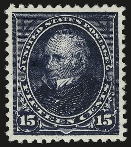 Sale Number 946, Lot Number 752, 1895 Watermarked Bureau Issue (Scott 264-278)15c Dark Blue (274), 15c Dark Blue (274)