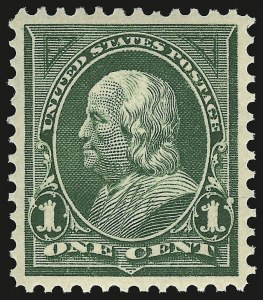 Sale Number 946, Lot Number 767, 1897-1903 Change of Colors (Scott 279-284)1c Deep Green (279), 1c Deep Green (279)