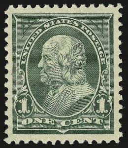 Sale Number 946, Lot Number 768, 1897-1903 Change of Colors (Scott 279-284)1c Deep Green (279), 1c Deep Green (279)