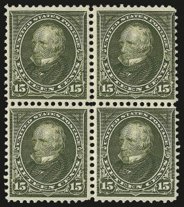 Sale Number 946, Lot Number 777, 1897-1903 Change of Colors (Scott 279-284)15c Olive Green (284), 15c Olive Green (284)
