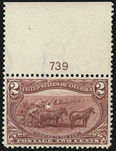 Sale Number 946, Lot Number 781, 1898 Trans-Mississippi Issue (Scott 285-293)2c Trans-Mississippi (286), 2c Trans-Mississippi (286)
