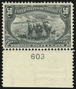 Sale Number 946, Lot Number 787, 1898 Trans-Mississippi Issue (Scott 285-293)50c Trans-Mississippi (291), 50c Trans-Mississippi (291)